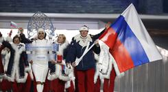 Russia's team during the opening ceremony of the 2014 Winter Olympics in Sochi (AP/Mark Humphrey, file)