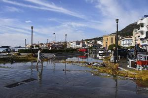 A collapsed wall led to the deaths of two teenagers on the Greek island of Samos (Michael Svarnias/AP)