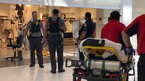 Authorities continue their investigation of a shooting at Riverchase Galleria shopping mall in Hoover, Alabama (Carol Robinson/The Birmingham News via AP/PA)