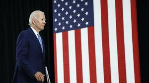 Democratic presidential candidate, former Vice President Joe Biden, has launched a scathing attack on Donald Trump over Russia and the coronavirus (Patrick Semansky/AP)