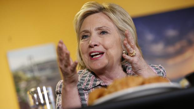 Hillary Clinton is on the cusp of securing the Democrats' presidential nomination (AP)