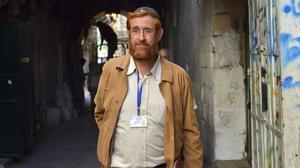 Yehuda Glick was shot and injured outside a conference promoting Jewish access to the holy site earlier this week (AP)
