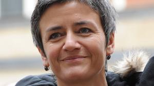 "Margrethe Vestager said the tax advantage given to a select group of mainly European companies ""distorts competition"""