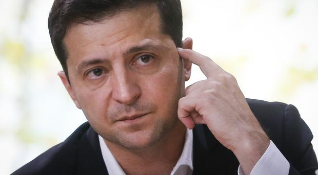 Volodymyr Zelenskiy hosted an all-day 'press marathon' amid growing questions about his actions as president (Efrem Lukatsky/AP)