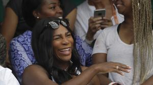 Serena Williams gave birth to daughter Alexis earlier this month (AP)