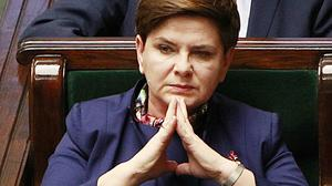 Poland's Prime Minister Beata Szydlo listens during a debate in the country's parliament in Warsaw. (AP)