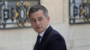 Newly appointed Interior Minister Gerald Darmanin arrives at the Elysee Palace for the weekly cabinet meeting (Francois Mori/AP)