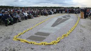 The Hindenburg disaster is marked at the site of the airship crash 80 years ago (NJ Advance Media/AP)