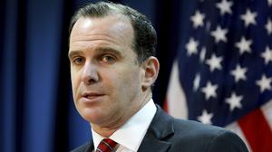 Mr McGurk, whose resignation is effective from December 31, was planning to leave the job in mid-February (Hadi Mizban/AP)