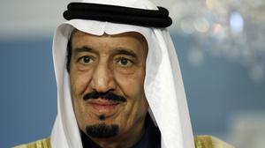 Saudi Arabia's new King Salman, pictured, is hosting world leaders after the death of Abdullah (AP)