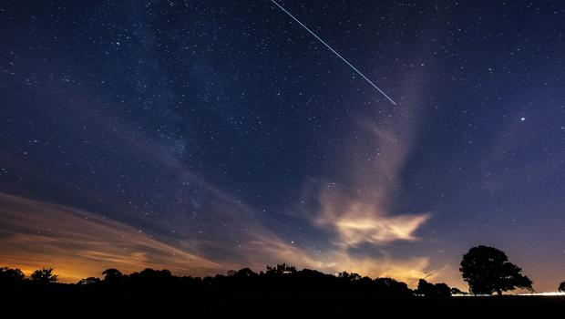 The International Space Station passing over Belvoir Castle, Leicestershire (Neil Squires/PA)