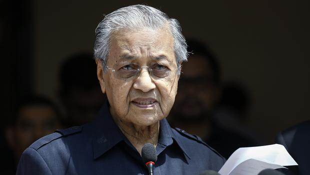 Malaysia's Prime Minister Mahathir Mohamad (AP Photo/Andy Wong)