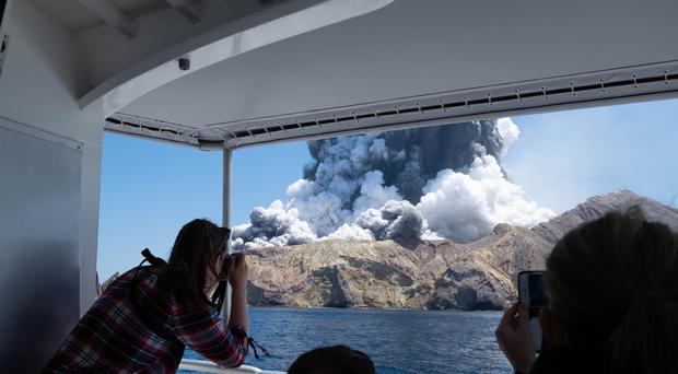 The volcano on White Island, New Zealand, erupted on December 9 (Michael Schade/AP)