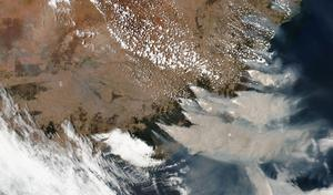 Smoke from wildfires in Victoria and New South Wales, Australia (NASA via AP)