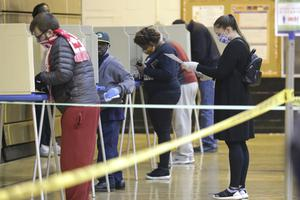 The count was delayed for several days by the legal struggle over whether to postpone the election due to the coronavirus pandemic. (Mike De Sisti/Milwaukee Journal-Sentinel/AP)