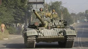 Ukrainian troops are fighting pro-Russia separatists in the east of the country