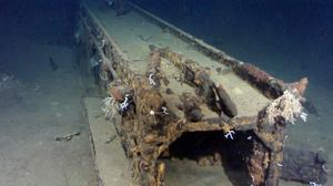 This image provided by Microsoft co-founder and philanthropist Paul Allen shows what is believed to be a catapult system from a massive Japanese Second World War battleship off the coast of the Philippines (AP/Paul Allen)