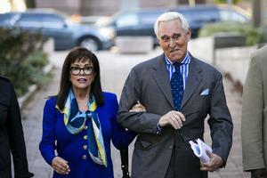 Stone was sentenced as part of the probe into Russian interference (Al Drago/AP)