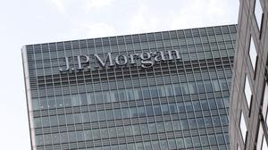 Tthe European headquarters of JP Morgan bank in London's Canary Wharf