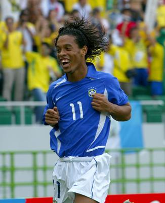 Ronaldinho scored against England as he helped Brazil on their way to winning the World Cup in 2002 (Owen Humphreys/PA)