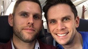 Stuart Hill, 30 (left) and his brother Jason Hill, 32, both died in the fatal helicopter crash (Family/PA)