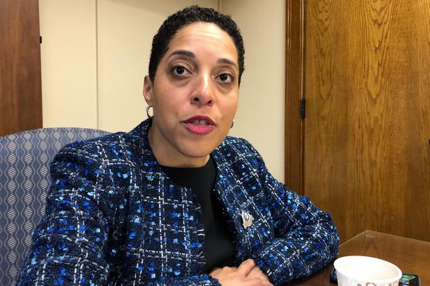 St Louis Circuit Attorney Kim Gardner says the McCloskeys committed a crime in brandishing their guns during the non-violent protest (Jim Salter/AP)