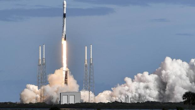 A SpaceX Falcon 9 rocket lifts off from Cape Canaveral (Craig Bailey/Florida Today via AP)