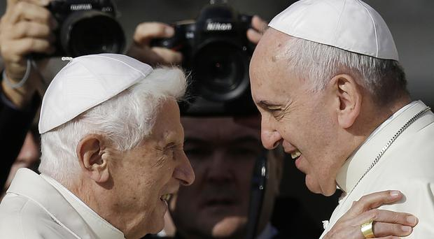 Retired Pope Benedict XVI has broken his silence to reaffirm the value of priestly celibacy (AP)