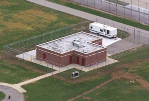 An aerial view of the execution facility at the United States Penitentiary in Terre Haute, Indiana (Michael Conroy/AP)