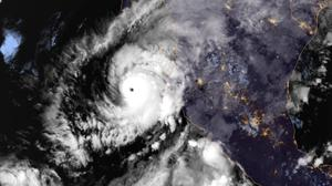 An image showing Hurricane Willa in the eastern Pacific (NOAA/AP)