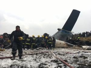 The plane swerved repeatedly before crashing, witnesses said (AP)