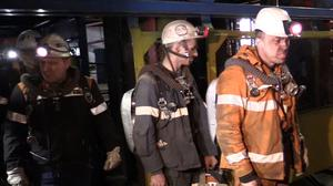 Rescuers have been working at the mine in Vorkuta (AP)