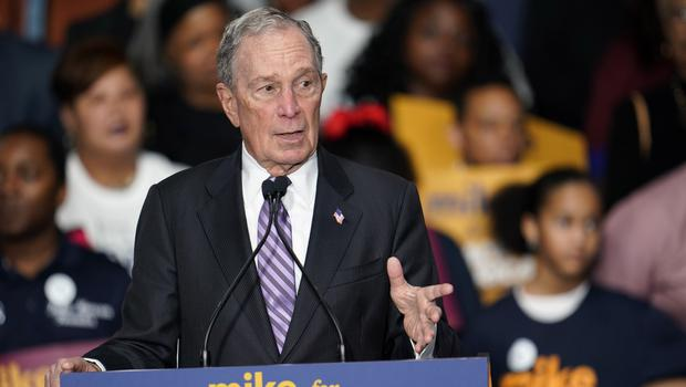 Democratic presidential candidate and former New York City Mayor Michael Bloomberg (AP)