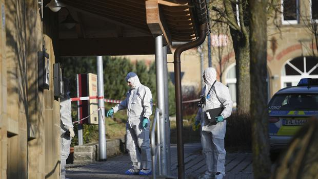 Police at the scene in Rot Am See (Sebastian Gollnow/dpa via AP)