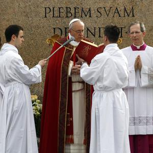 Pope Francis told an anecdote from his youth during the Mass (AP)