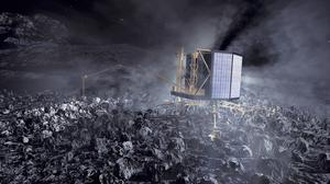 The Philae lander at work on Comet 67P/Churyumov-Gerasimenko (European Space Agency/PA)
