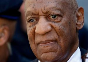 Bill Cosby departs the courthouse after he was found guilty in his retrial (AP Photo/Matt Slocum)