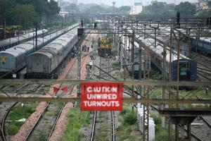 India's train network was halted in late March as a lockdown was imposed