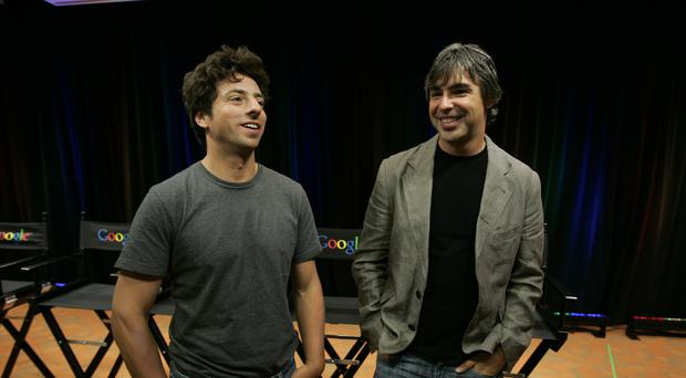 Google co-founders Sergey Brin, left, and Larry Page (Paul Sakuma/AP)