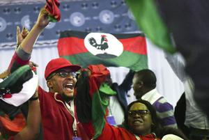 Malawi Congress Party supporters celebrate after leader Lazarus Chakwera was announced as the winner of the re-run election (Thoko Chikondi/AP))