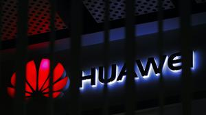 A logo of Huawei retail shop (Andy Wong/AP)