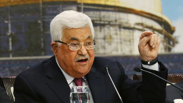 Palestinian president Mahmoud Abbas apologised after a speech he made was criticised as anti-Semitic. (Majdi Mohammed/AP)