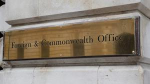 The Foreign Office says public services at the British Embassy in Cairo are suspended