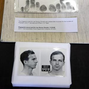 The police mug shots of Lee Harvey Oswald that were made after he was arrested in Dallas in November 1963 over the assassination of President John F Kennedy (AP)