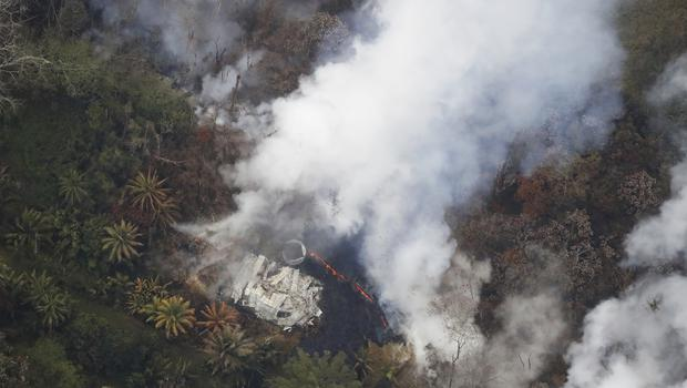 The East Rift Zone, along which the Leilani Estates neighbourhood sits, from the Kilauea eruption (Cindy Ellen Russell/Honolulu Star-Advertiser via AP)