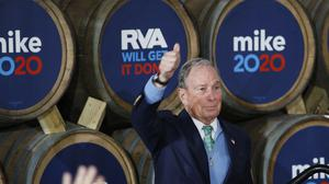Democratic presidential candidate Mike Bloomberg, who is set to sell his business interests if elected president (James H. Wallace/Richmond Times-Dispatch/AP)