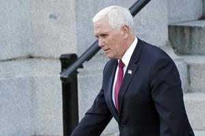 Vice President Mike Pence will not attend Donald Trump's departure ceremony (Gerald Herbert/AP)