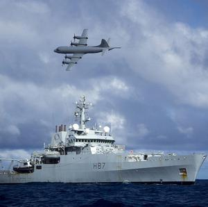 British survey ship HMS Echo helped in the search for the flight recorder from the missing Malaysia Airlines flight MH370 (Ministry of Defence/PA)