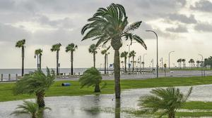 Lake Pontchartrain in New Orleans as Hurricane Barry approaches (Matthew Hinton/AP)