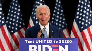 Democratic presidential candidate Joe Biden has called for policing reforms (Susan Walsh/AP)